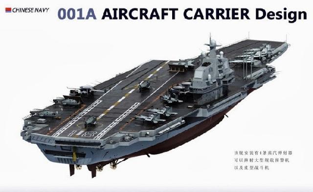 Một mẫu thiết kế mô phỏng tàu sân bay Type 001A.