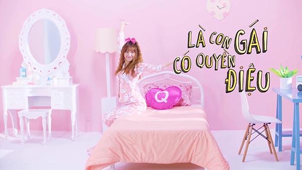 Giữ đúng lời hứa với khán giả hâm mộ, Hari Won vừa chính thức ra mắt MV mới có tựa đề Là con gái có quyền điệu.