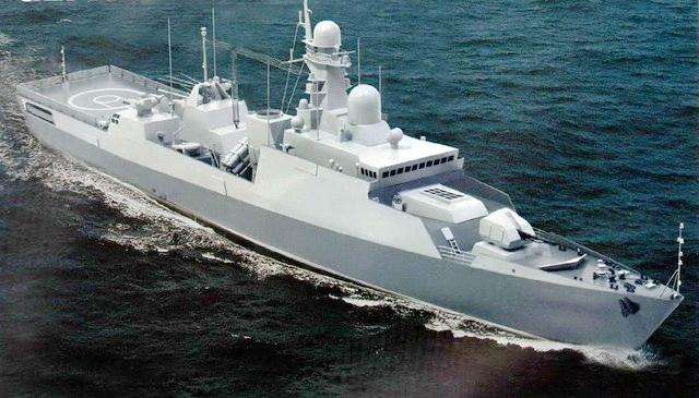 Mô hình tàu hộ vệ tên lửa Gepard 3.9 nâng cấp với hệ thống phòng không tầm trung Shtil-1