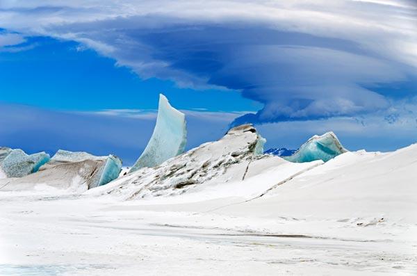 băng xanh, Nam cực, độc nhất vô nhị