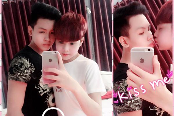 Hưng (áo trắng) và Long từng có chuyện tình đồng tính đẹp được nhiều người ngưỡng mộ