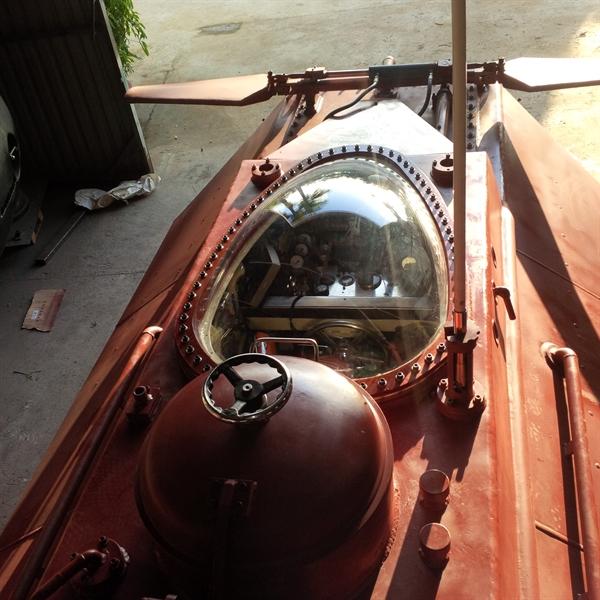 Kết hợp nhiều tính năng vào trong một con tàu, cũng chính là tâm niệm của ông Hòa, đó là cố gắng thiết kế làm sao một chiếc tàu ngầm có thể góp phần bảo vệ chủ quyền biển đảo của Tổ Quốc.