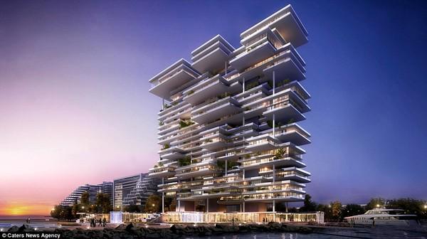 Nằm trên tầng 25 của tòa tháp One, đây là căn hộ cực lớn với diện tích trong nhà gần 4.000 m2và ban công 1.500 m2.