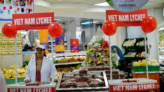 Trái vải tươi Việt Nam đã cớ mặt tại Hệ thống siêu Choithrams (Dubai).