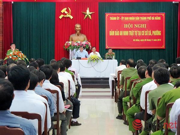 Hội nghị về đảm bảo an ninh trật tự tại cơ sở xã, phường do Thành ủy, UBND TP Đà Nẵng tổ chức sáng 6/11 (Ảnh: HC)