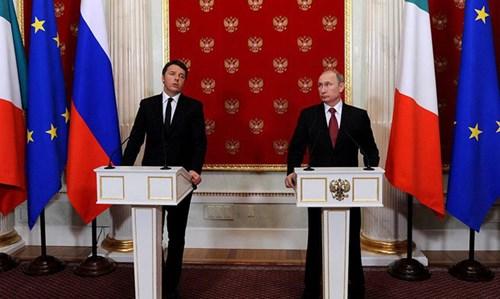 Tổng thống Nga Putin và Thủ tướng Italy tại cuộc họp báo chung (Ảnh: Kremlin.ru)