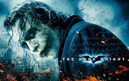 Poster bộ phim bom tấn The Dark Kight (2008) của đạo diễn Christopher Nolan