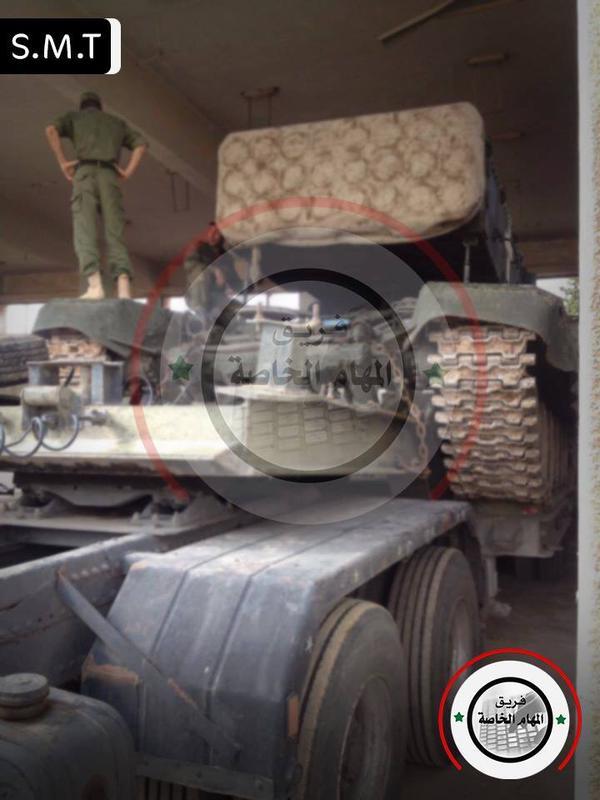 Hình ảnh được cho là hệ thống pháo phản lực phóng loạt nhiệt áp TOS-1A tại Syria. (Bức ảnh xuất hiện hồi tháng 10/2015)