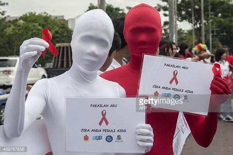 Nhận thức của người dân Indonesia về vi rút HIV vẫn còn kém. (ảnh minh họa: AFP)