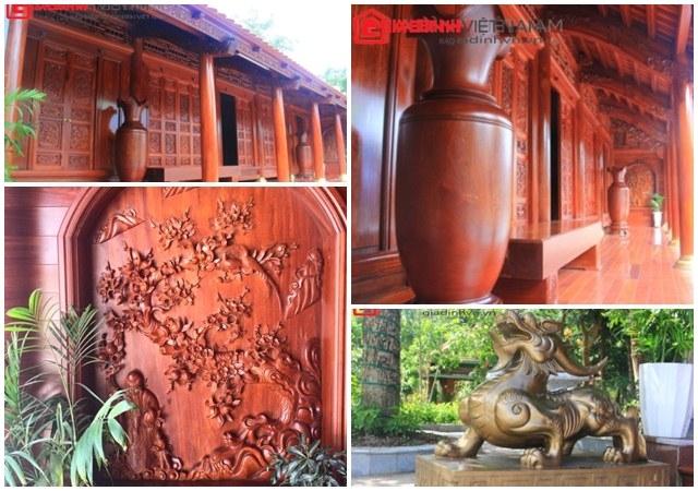 Cận cảnh căn nhà sàn bằng gỗ thứ 2 của đại gia Điện Biên