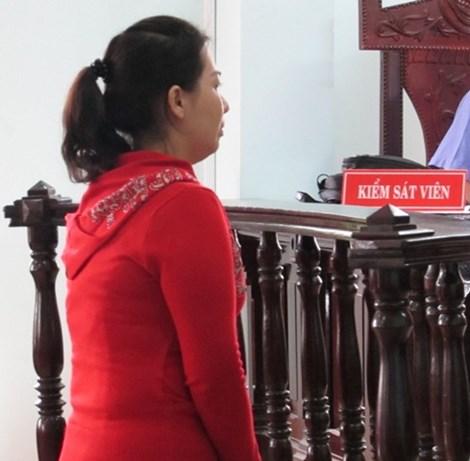 Bị cáo Lê Thị Hồng Thúy tại phiên tòa phúc thẩm ngày 15-9