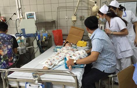 Nhiều trẻ đã phải nhập viện vì bệnh SXH .