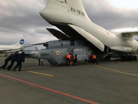 Hai chiếc trực thăng Ka-31 đầu tiên đã sửa chữa được chuyển giao cho Ấn Độ
