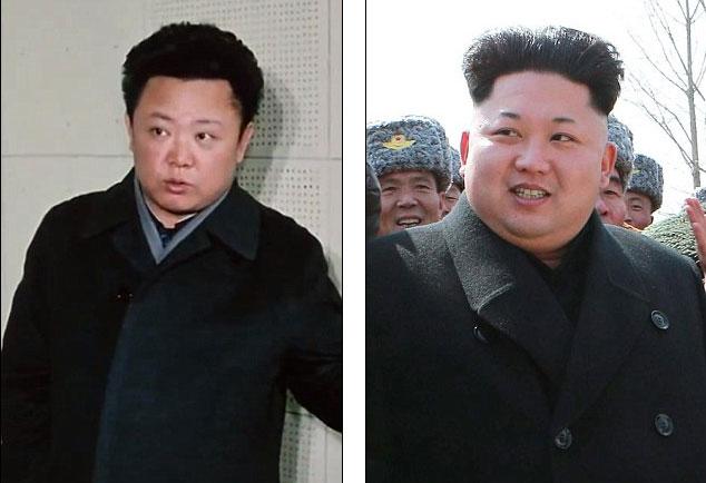 Trong đoạn clip hiếm, cố lãnh đạo Kim Jong-il (trái) trông khá giống với người con út Kim Jong-un (phải).