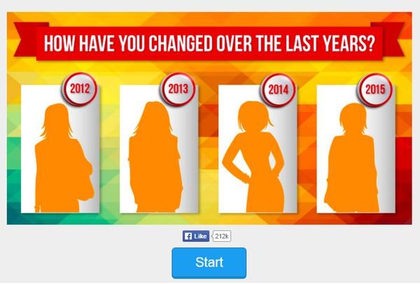 Ứng dụng này sẽ lấy cột mốc từ năm 2012 cho đến năm 2015. Và khi cho ra kết quả sẽ cho ra rất nhiều bất ngờ về bạn.