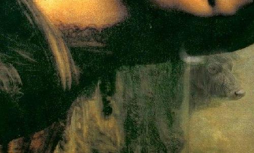 Hình ảnh đầu trâu phía sau Mona Lisa