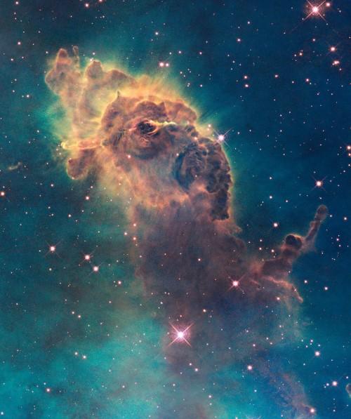 Bức ảnh chụp sự ra đời của các ngôi sao trong tinh vân Carina
