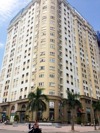 Tòa chung cư CT1 của khu đô thị Cổ Nhuế Nam Cường.