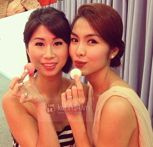 Trong ảnh là Stephanie Nguyễn - chị chồng của Hà Tăng. Cô sở hữu gương mặt khá bầu bĩnh, dễ thương và thu hút.