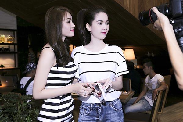 Hai phong cách thời trang đối lập của Ngọc Trinh và Linh Chi.
