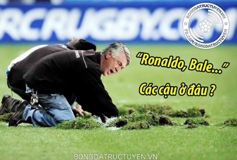 Ancelotti vẫn đang tìm Ronaldo và Bale mất tích