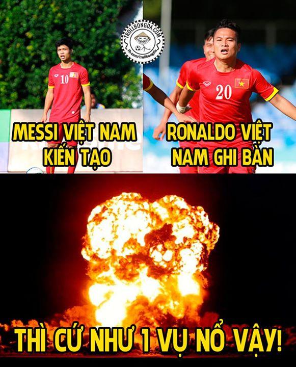 Khi Messi Việt Nam phối hợp cùng Ronaldo Việt Nam