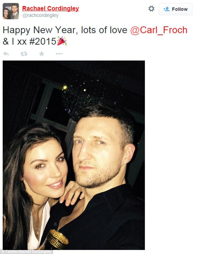 Tay đấm Carl Froch chia sẻ khoảnh khắc Giao thừa với cô vợ xinh đẹp Rachel Cordingly