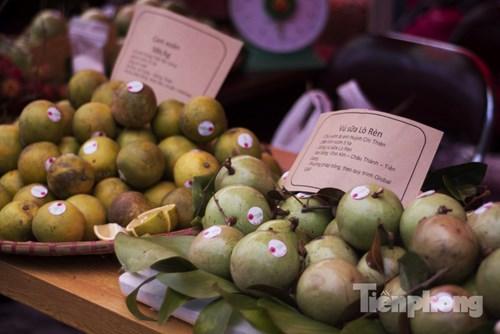 Các sản phẩm trái cây miền Đông Nam Bộ được bày bán rộng rãi: vú sữa, chôm chôm...