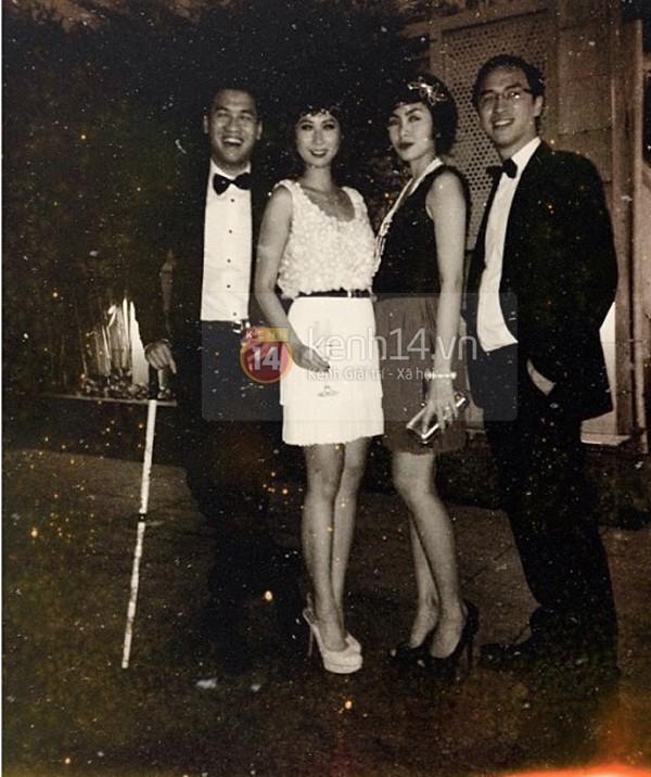 Trong gia đình chồng, Tăng Thanh Hà cũng tỏ ra khá thân thiết với người chị này.