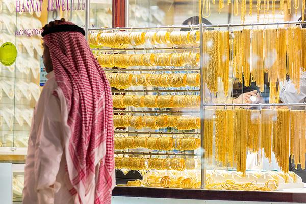 Người dân Dubai đặc biệt yêu thích vàng.