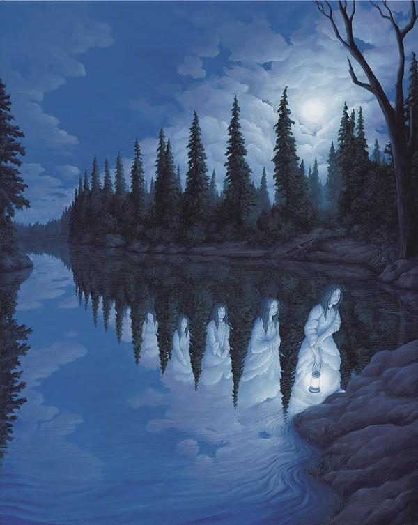 Ngắm tranh vẽ đánh lừa thị giác khiến bạn