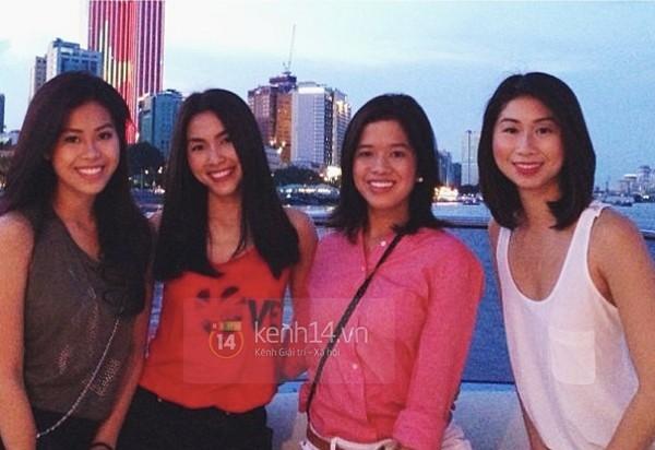 Một số khoảnh khắc vui vẻ, thân thiết của những chị em gái trong gia đình Louis Nguyễn và Tăng Thanh Hà