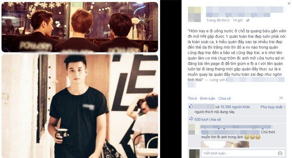 Nội dung chia sẻ của cô gái đã được page đăng kèm với một bức hình khác - cũng được chụp tại quán cà phêmà bạn gái đang cần tìm.