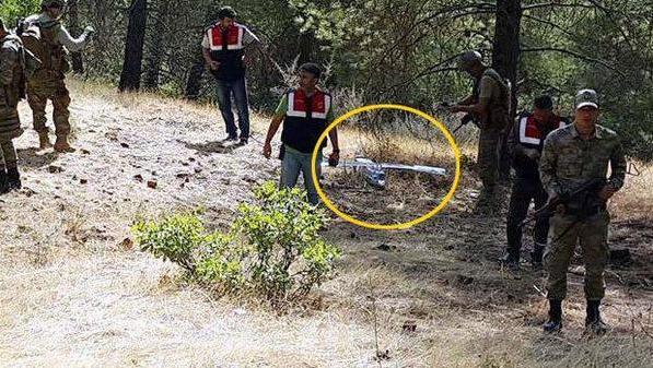 Hình ảnh chiếc máy bay không người lái bị Thổ Nhĩ Kỳ bắn hạ