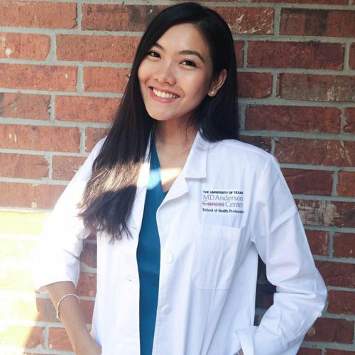 Nam Phương hiện đang theo học tại một học viên nghiên cứuUng thư hàng đầu thế giới