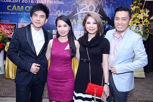 Cẩm Ly, Lam Trường, Thanh Thảo đến chúc mừng Đan Trường công bố dự án mới.