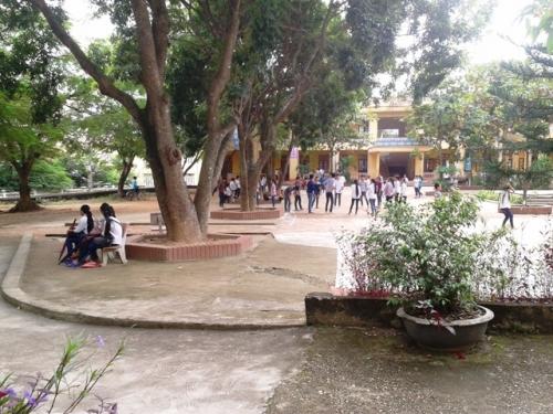 Một góc trường THCS Nhân Đạo, nơi 7 học sinh bị cô giáo bắt xúc miệng bằng xà phòng.