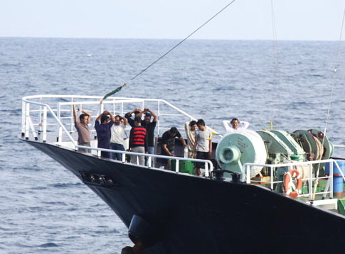 Nhóm cướp biển trên tàu Zafirah - Ảnh tư liệu