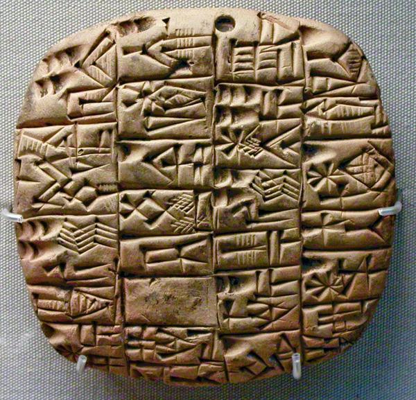 Chữ viết hình nêm - cuneiform thường được tìm thấy tại các khu vực gần nền văn minh Lưỡng Hà cổ