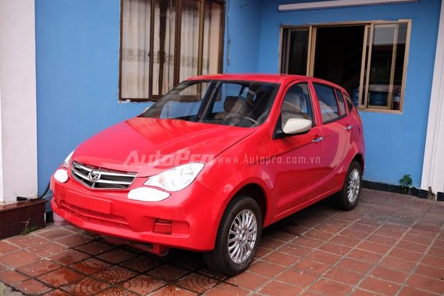 Chiếc xe Vinaxuki VG chưa kịp hoàn thiện do thiếu vốn của chủ tịch Bùi Ngọc Huyên.