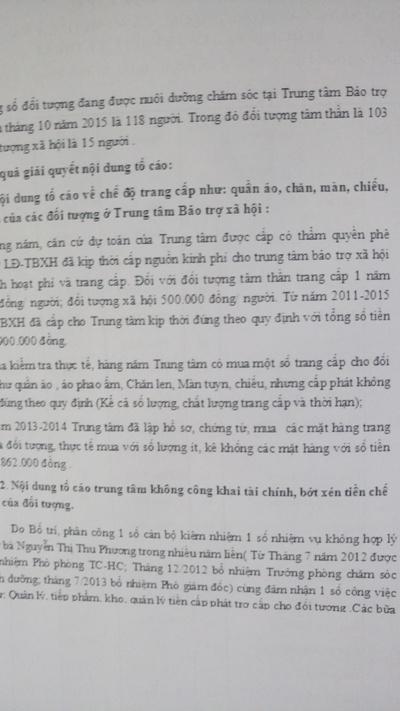 Giải trình trực tiếp của ông Phú liên quan đến nội dung kết luận thanh tra chỉ mới được ghi nhận tại buổi làm việc ngày 9/1 vừa qua