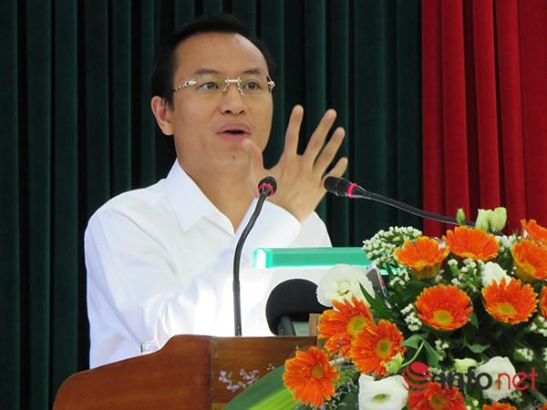 Bí thư Thành ủy Đà Nẵng Nguyễn Xuân Anh phát biểu tại hội nghị (Ảnh: HC)