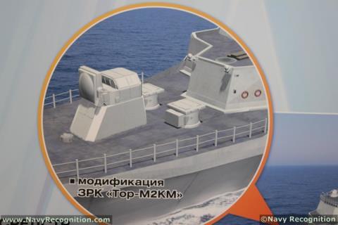 Cận cảnh giải pháp tích hợp hệ thống Tor-M2U lên các nền tảng tàu chiến có kích cỡ khác nhau. Giải pháp này sẽ phát huy được hiệu quả trên những tàu chiến cũ mà không có hệ thống phòng không.