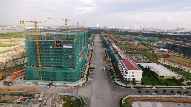 Thủ Thiêm đang hút dòng vốn lớn đầu tư vào các dự án BĐS (ảnh thực tế dự án Sala tháng 8/2015 -Đại Quang Minh)