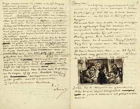 Bức thư của Van Gogh gửi cho em trai Theo Van Gogh, ngày 9-4-1885.