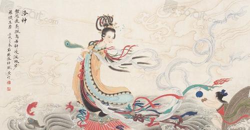 """""""Lạc Thần Phú"""" được các nhà phân tích văn học trong lịch sử Trung Quốc nhận định là tác phẩm nói về mỹ nhân Chân Lạc."""