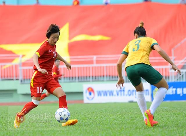 Tuyển nữ Việt Nam thua kém trước Australia