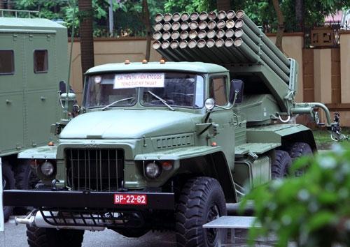 Pháo phản lực BM-21M-1.