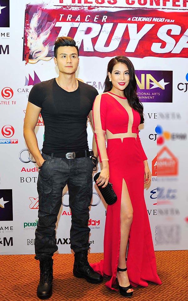 Vĩnh Thuỵ - một trong số những mắt xích phim Truy Sát khoe vẻ nam tính bên bà trùm Hương Ga.