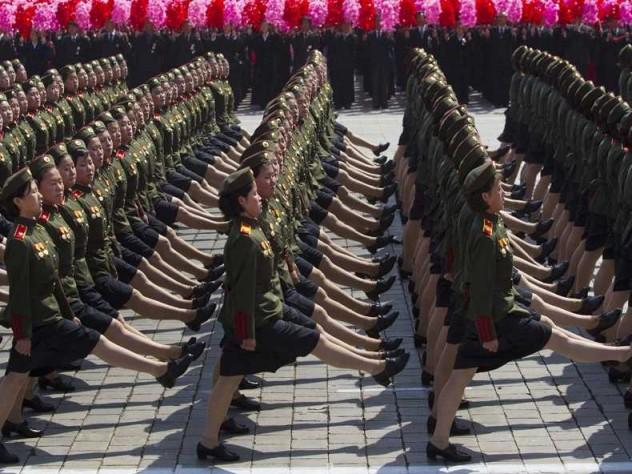 Hình ảnh được chụp lại trong một lễ duyệt binh tại Bình Nhưỡng.